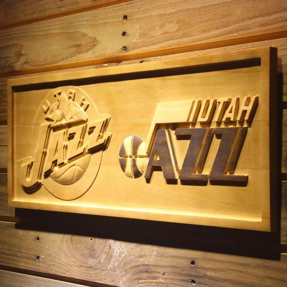 Utah Jazz Wooden sign wall decor Wood Hangings