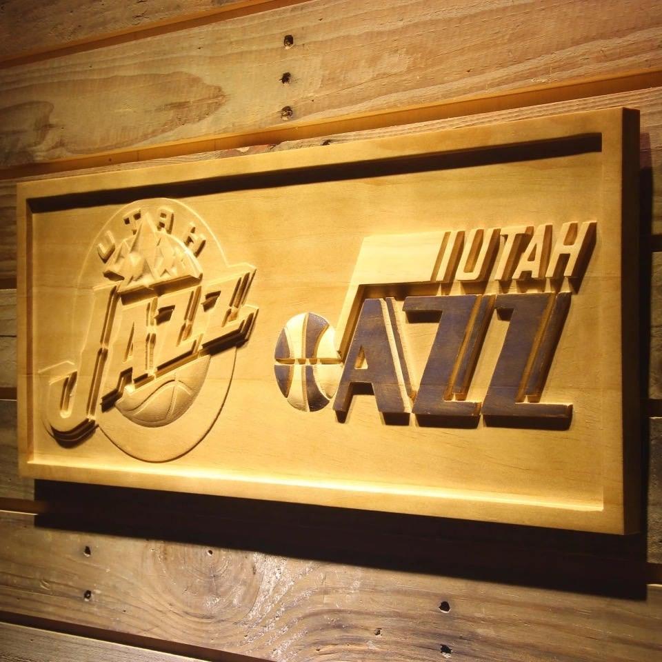 Utah Jazz Wooden sign wall decor Wood Hangings