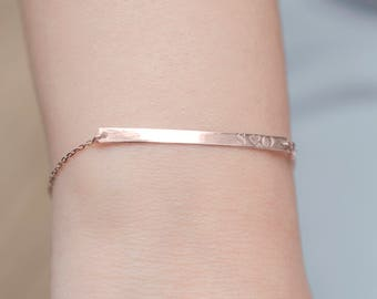 Initial Bar Bracelet   Nameplate Bracelet   Name Bracelet   Gold Bar Bracelet   CZ Name Bracelet   Engraved Bar Bracelet   Bridesmaid Gift