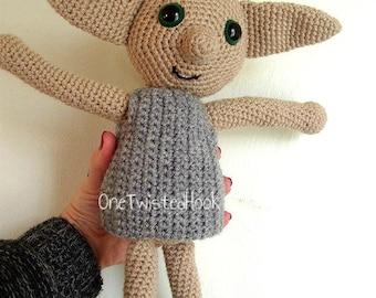Dobby Doll House Elf Inspired Doll Harry Potter Crochet Dobby Amigurumi Dobby The Elf Stuffed Toy Soft Cuddly Toy Dobby Plush
