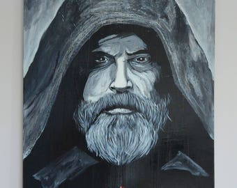 Portrait of Luke Skywalker (Mark Hamill) - STAR WARS