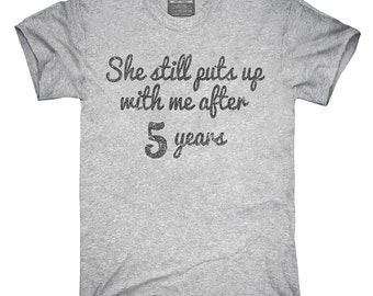 Funny 5th Anniversary T-Shirt, Hoodie, Tank Top, Gifts