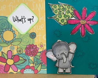 Elephant What's Up Card