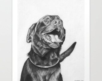 "Open edition print, ""Happy Lab"""