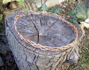 Celtic copper braided  circlet