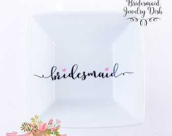 Bridesmaid Jewelry Dish | Bridesmaid gift | Bridal Party Gift idea | Wedding | Jewelry holder | Ring Dish |