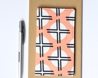SALE - Peach Check Book Cover, Teen Girl Gifts, Coral Checkbook Holder, Cute Gifts for Friends