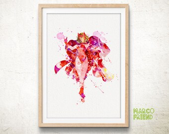 Avengers Scarlet Witch Watercolor Art Print Poster - Home Decor - Watercolor Painting - Wall Art - Christmas Gifts - Kids Decor -124