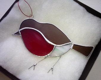 Glass Robin suncatcher