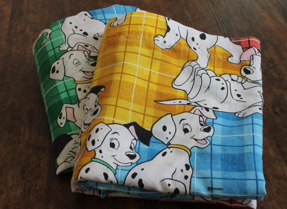 Vintage Disney 101 Dalmatians FULL Bed Sheet SET