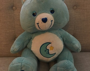 Care Bear Midnight Blue  Bedtime Bear Jumbo 21 Inches Tall Excellent Condition !