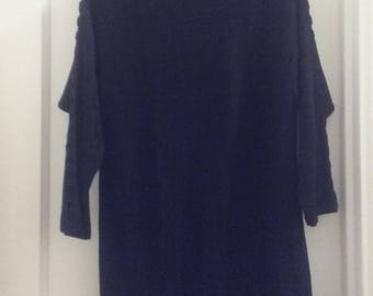 Vintage Knit Black Dress