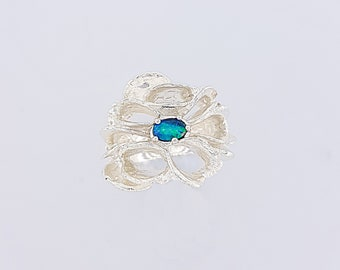 Opal and Banksia design Ring