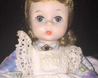 "SALE Madame Alexander Kins Little Women Meg 8"" Bent Knee Sleep Eyes Vintage Doll ORIGINAL OWNER"