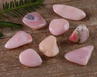 One Medium Peruvian Pink OPAL Tumbled Stone - Pink Opal, Pink Opal Stone, Peruvian Opal, Tumbled Opal, Pink Stone, Healing Crystals E0566