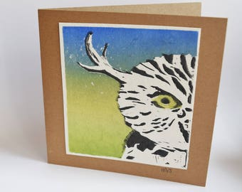 Greeting card Owl