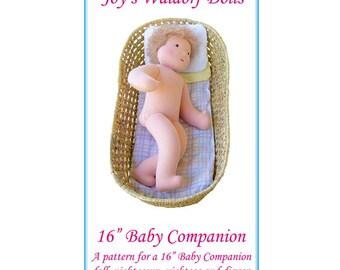 "16"" Baby Companion Pattern - Joy's Waldorf Dolls"