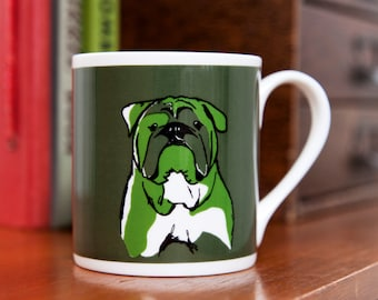 Bulldog Fine Bone China Mug