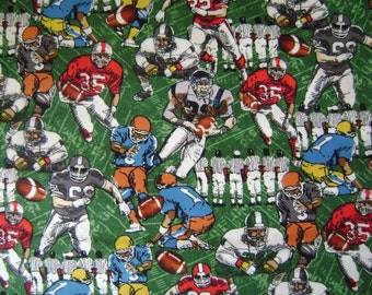 Football Players Cotton Fabric Sold by the Yard