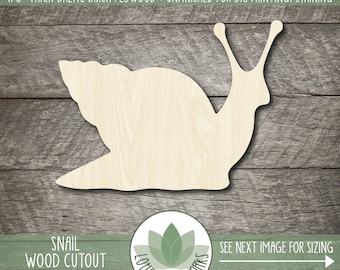 Snail Wood Shape, Wooden Snail Cutout, Blank Wood Shape, Unfinished Wood For DIY Projects, Many Sizes, Wood Animals, Blank Wood Shapes