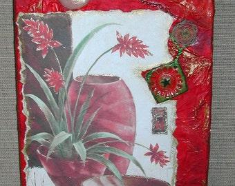 Media mix paint red zen asia H.ANGIARI: creative designer