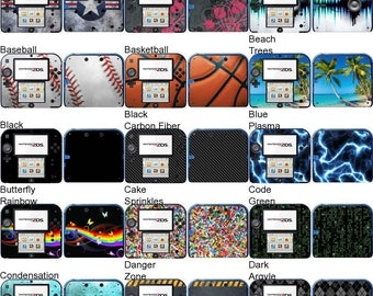 Choose Any 2 Vinyl Skin/Sticker/Decal Designs for the Nintendo 2DS