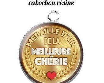 20 mm resin cabochon pendant medal sweetheart... 13