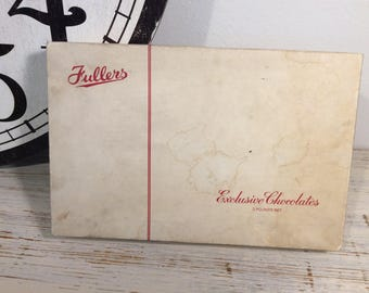 Vintage 50's Jullers Chocolate box empty