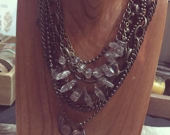 Brass Layered Chain Choker