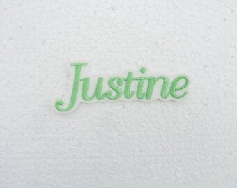 Set of 3 Patches shape in your name on request. For sale: Justine
