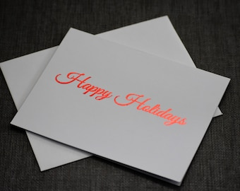 Holiday Cards - Christmas Cards - Foil Prints - Gold Foil - Red Foil - Holiday Card Set - Christmas Card Set