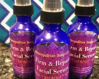 Natural Firm & Repair Hyaluronic DMAE Facial Serum | Clear Skin | Soft Smooth Skin | Anti-Aging | Anti-Wrinkle | Hyaluronic Serum | Miracle