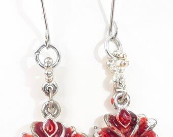 Scarlet Rose Earrings