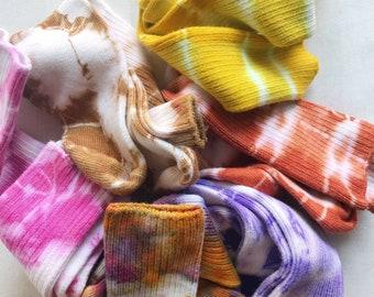 Hand Dyed Bamboo Socks, Anna Joyce, Portland, OR, Soft, Crew Socks