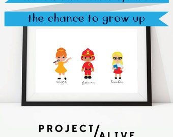 FUNDRAISER | Project Alive | Hunter Syndrome | Give kids with Hunter Syndrome the chance to grow up | Singer | Digital Fundraiser Art Print