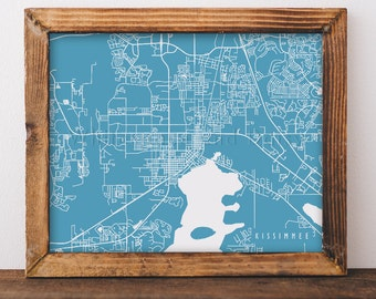 Kissimmee Map Kissimmee Art Kissimmee Map Art Kissimmee Print Kissimmee Printable Kissimmee City Art Florida Art
