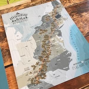 Push pin globe etsy push pin board appalachian trail map for push pins appalachian map gift gumiabroncs Choice Image