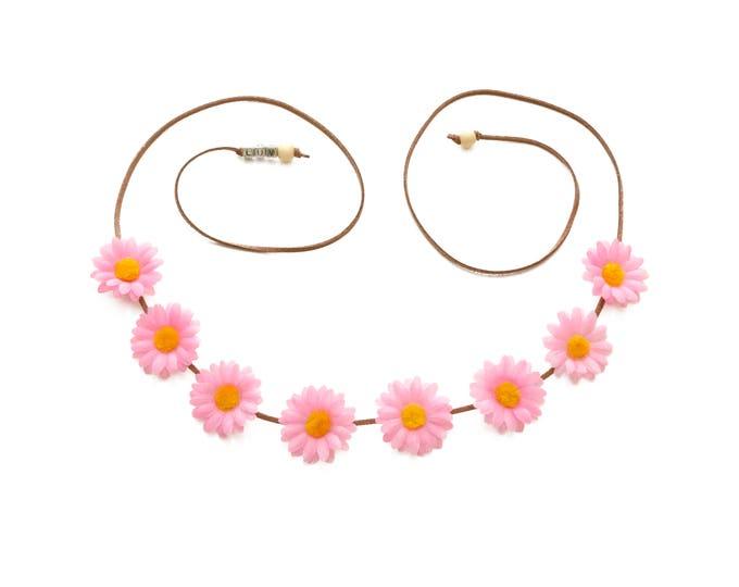 Light Pink Daisy Flower Crown