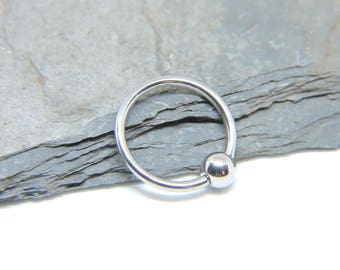 """Belly Button Ring - Body Jewelry - Simple Captive Bead Ring Belly Ring - Belly Rings - CBR 16 or 14 Gauge 3/8"""" 7/16"""" 1/2"""" 5/8"""""""