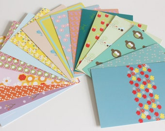 Set of 17 different postcards