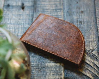 Rogue Front Pocket Wallet in Moosehide (6 credit card slots), Men's Leather Wallet, Made in USA, Men's Gift, Leather Wallet, Gift for Guys