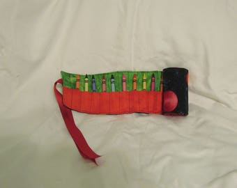 Outer Space Crayon Roll/Holder
