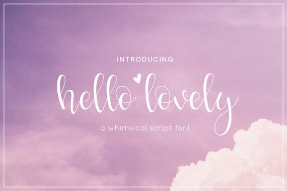 Hello lovely font digital font script font font download