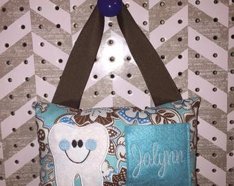 Girlie Aqua Tooth Fairy Pillow - FREE SHIPPING
