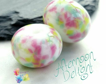 Lampwork Glass Beads Afternoon Delight Fritties