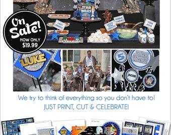 Star Wars Party | Star Wars Birthday | Star Wars Party Decorations | Star Wars Party Favor | Star Wars Printable | Amanda's Parties To Go