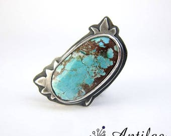 Turquoise ring, Chunky gemstone ring, adjustable ring, chunky blue ring, chunky ring for her, Turquoise jewellery, gift for girlfriend