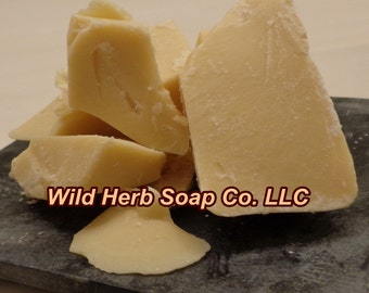 COCOA BUTTER, Organic (1 or 2 lbs)  - QAI Certified - Top Quality - Pure, Lush, Fresh!