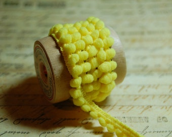 Buttercup Yellow Baby Pom Pom Trim