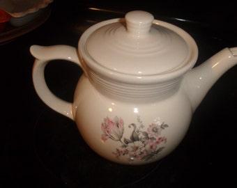 vintage coffee pot teapot enterprise superior drip o lator pink gray flowers